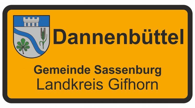 Ortsschild Dannenbüttel