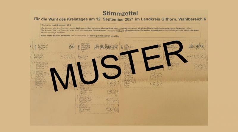 Stimmzettel Kreistag